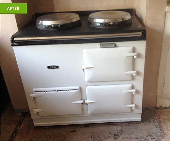 an aga after being cleaned