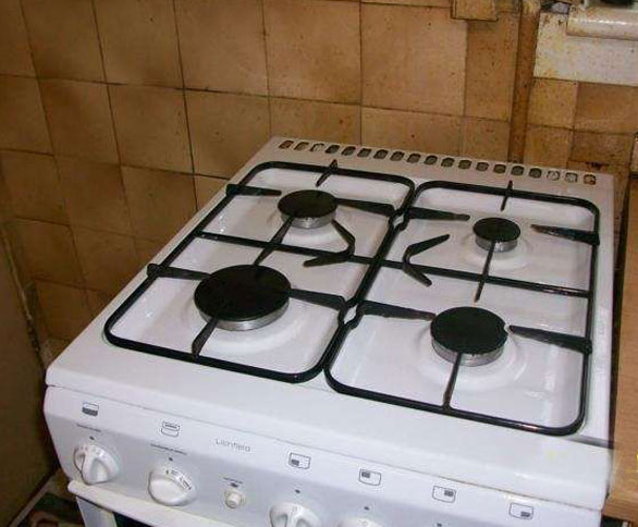 A hob after being cleaned